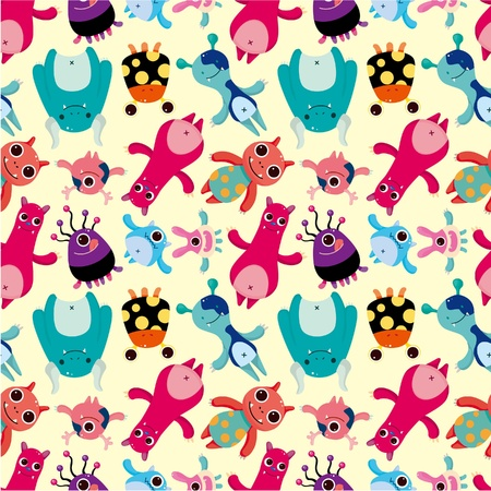 pattern monster: mostro seamless
