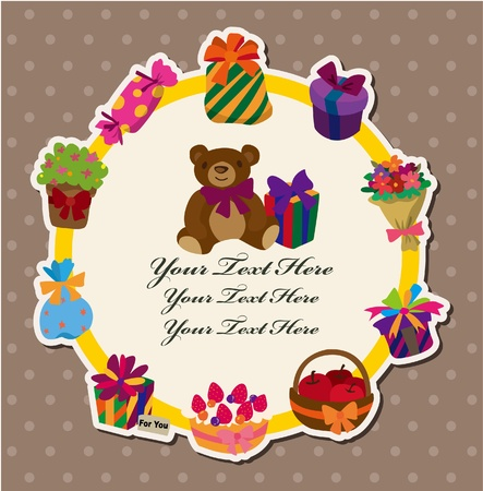 birthday gift card  Vector