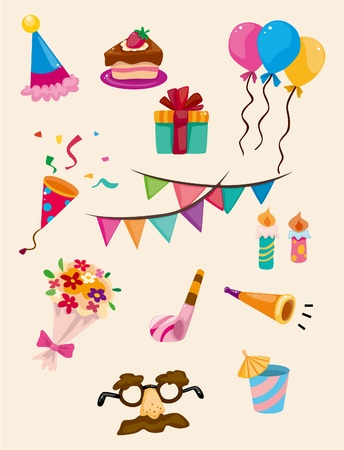 cartoon Birthday icon  Vector