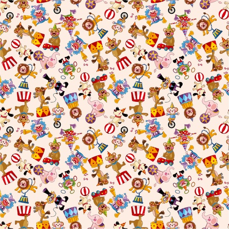 clown: cartoon circus seamless pattern