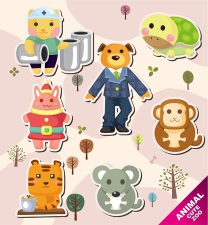 monkey suit: cartoon animal icons