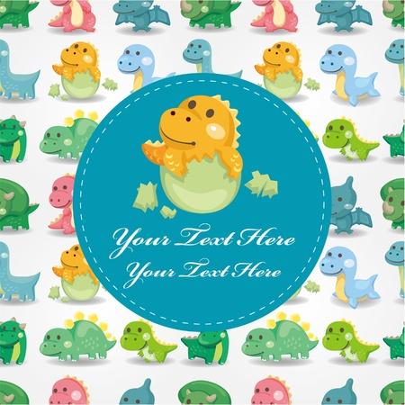 dinosaur card Stock Vector - 10482392
