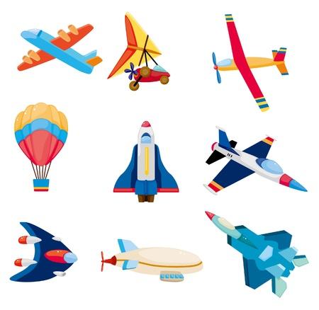 shuttle: cartoon vliegtuigpictogram
