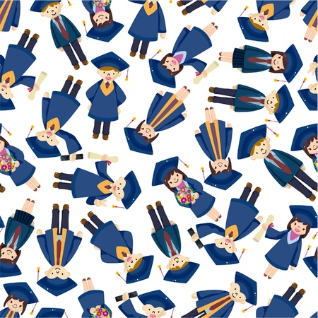 woman teacher: seamless student pattern  Illustration