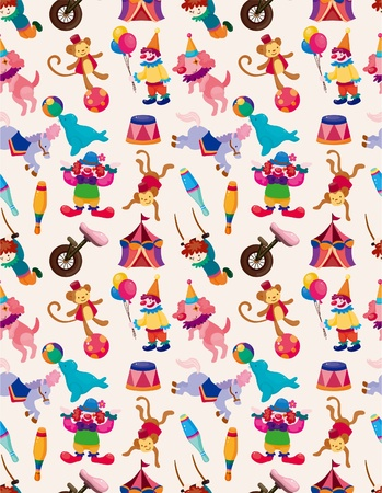 cartoon happy circus seamless pattern Vector