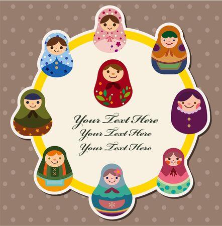 doll card Stock Vector - 10482398