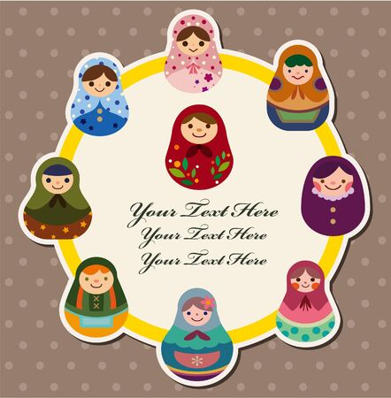 matryoshka doll: doll card  Illustration