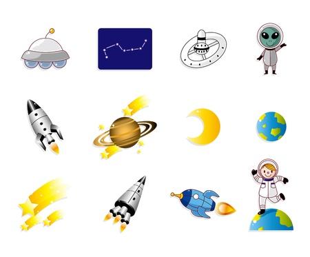 space ship: cartoon space icon