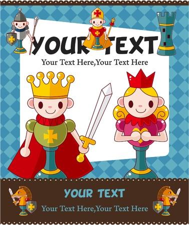chess knight: cartone animato scacchi scheda