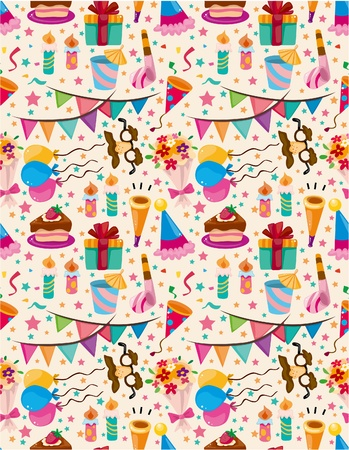 seamless birthday pattern  向量圖像
