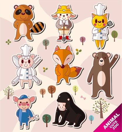 raton laveur: ic�nes animal cartoon