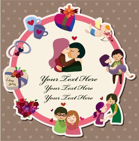 paloma caricatura: tarjeta de amor