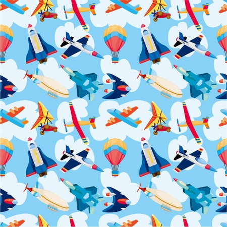 seamless airplane pattern Stock Vector - 10522102