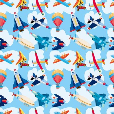 cilp: seamless airplane pattern  Illustration