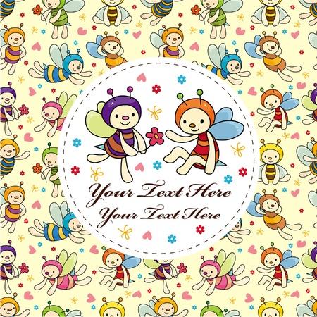 cartoon bee card Stock Vector - 10522103