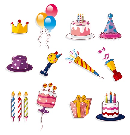 clip art draw: cartoon birthday icon