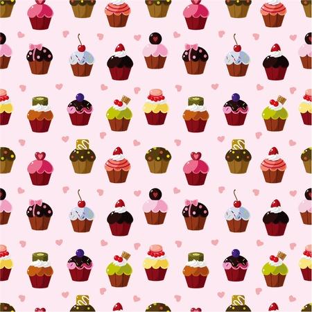 cup cakes: patr�n de pastel transparente