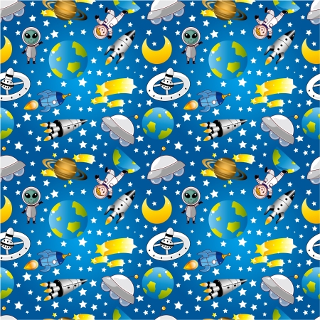 spacecraft: seamless space pattern
