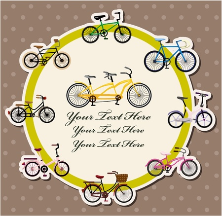 bicycle card Stock Vector - 10548096