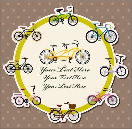 mountain holidays: bicycle card  Illustration