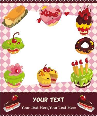blueberry muffin: cartoon cake card