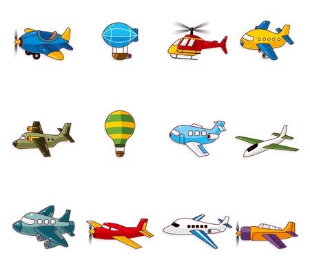 aereo icona: icona di aeroplano cartone animato