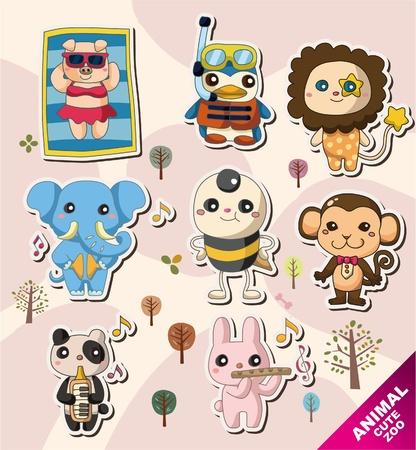 cartoon animal icons Stock Vector - 10556481