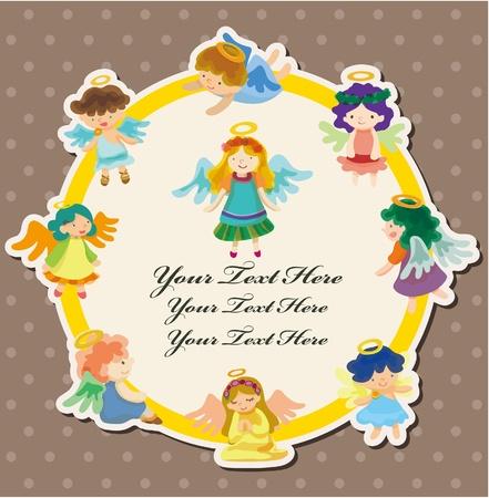angel card  Vector