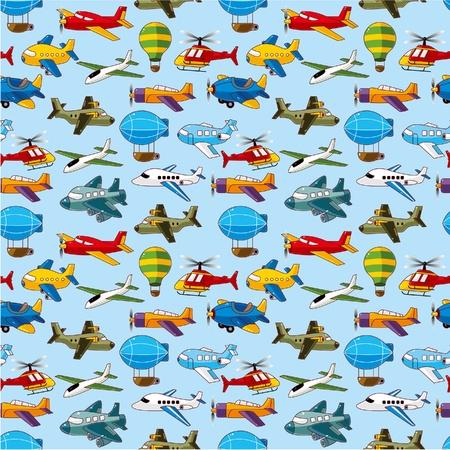 naadloze vliegtuig patroon