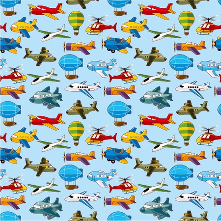 seamless sky: seamless airplane pattern  Illustration