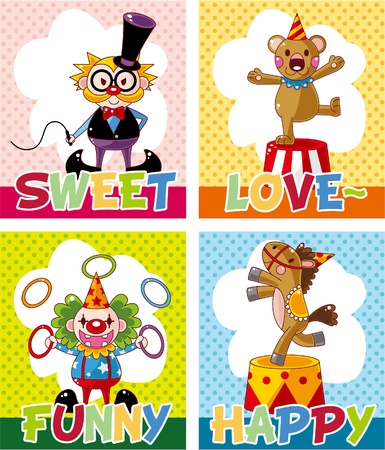 circus card Stock Vector - 10588896
