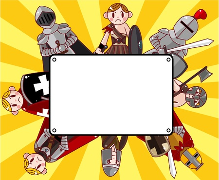 cartoon knight card Stock Vector - 10588893