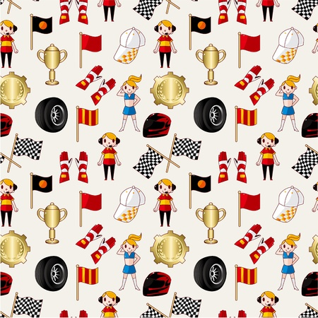 seamless f1 racing pattern Vector