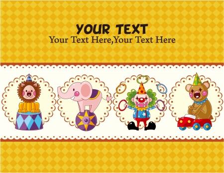 circus card Stock Vector - 10588914
