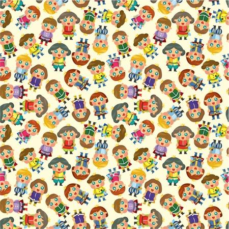 cartoon Prince seamless pattern Vector