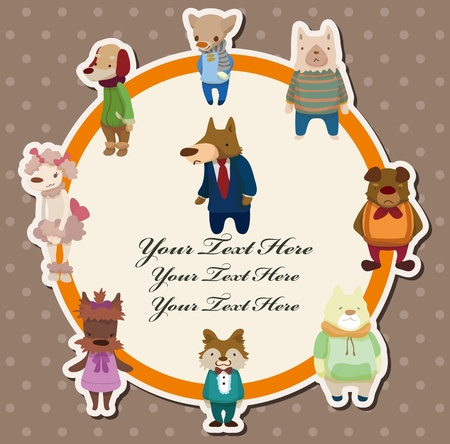 dog card 矢量图像
