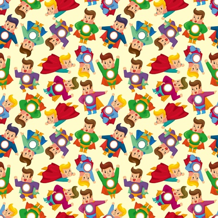 cartoon superman seamless pattern Vector