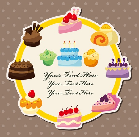 cartoon cake card Stock Vector - 10622480