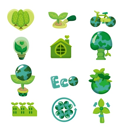 cartoon earth: cartoon eco icon  Illustration