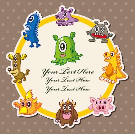 monster card Stock Vector - 10673012