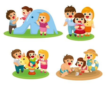 sweet family set Stock Vector - 10673004