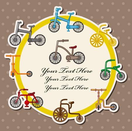 bicycle card  Vector