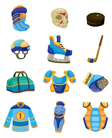 ice hockey icon set  Vector