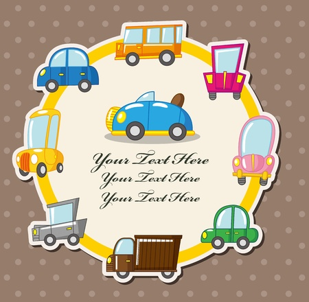 car card Stock Vector - 10673016