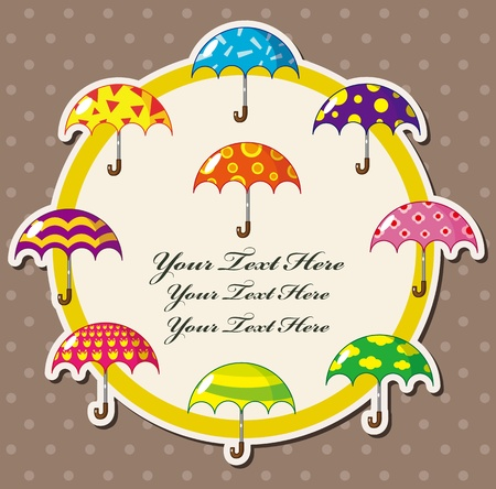 cartoon umbrella card Stock Vector - 10695173