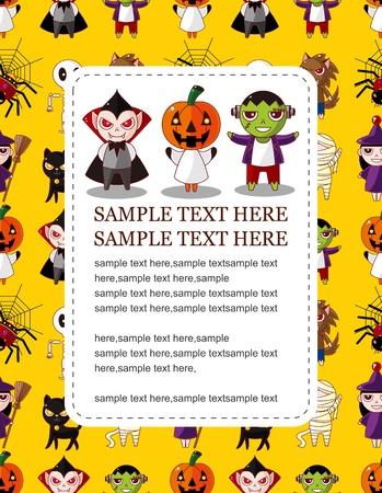 halloween party: Cartoon Halloween-kaart