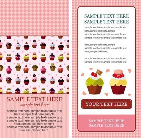 blueberries: cartoon cake card