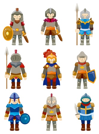 cavaliere medievale: cartoon Cavaliere icona Vettoriali