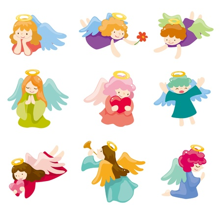 angel cartoon: cartoon Angel icon set