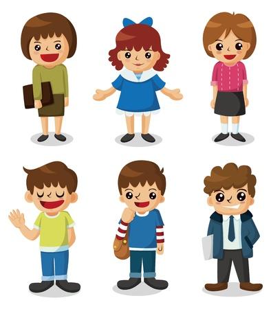 cartoon jongen: Cartoon student pictogram